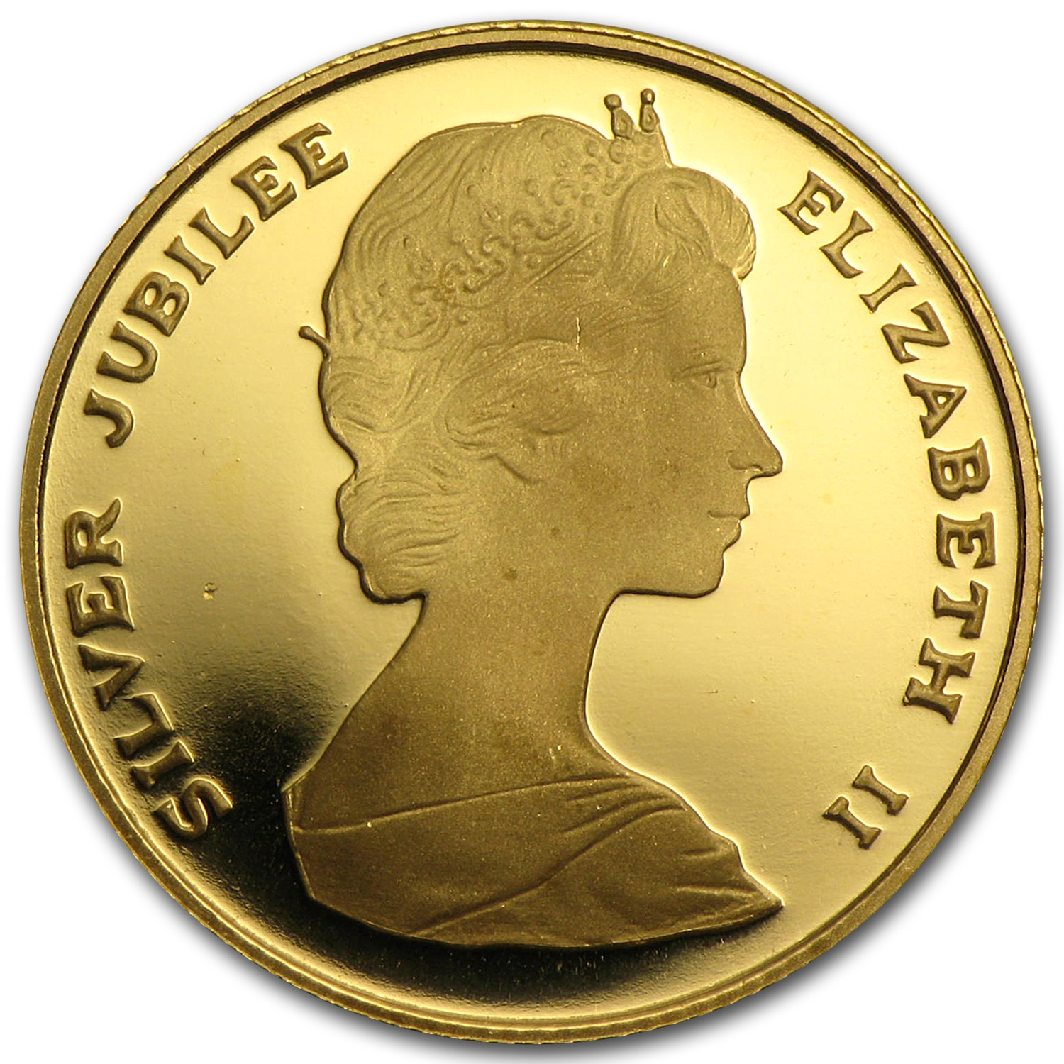 Bermuda 1977 $50 Gold Proof Queen's Silver Jubilee